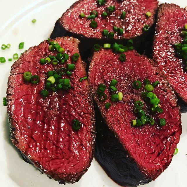 蝦夷鹿しんたま肉のロースト#ビストロ #西麻布#フレンチ