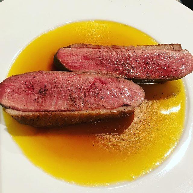 鴨胸肉のロースト、オレンジソース#ビストロ #フレンチ#ジビエ#西麻布