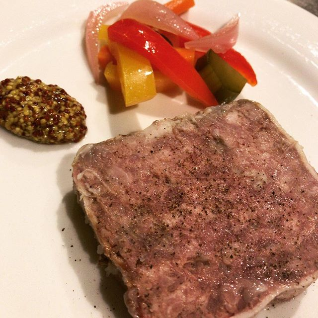 田舎風豚肉のパテ。#ビストロ#レストラン#bistro #restaurant #西麻布#六本木#nishiazabu #roppongi#パテ #pate