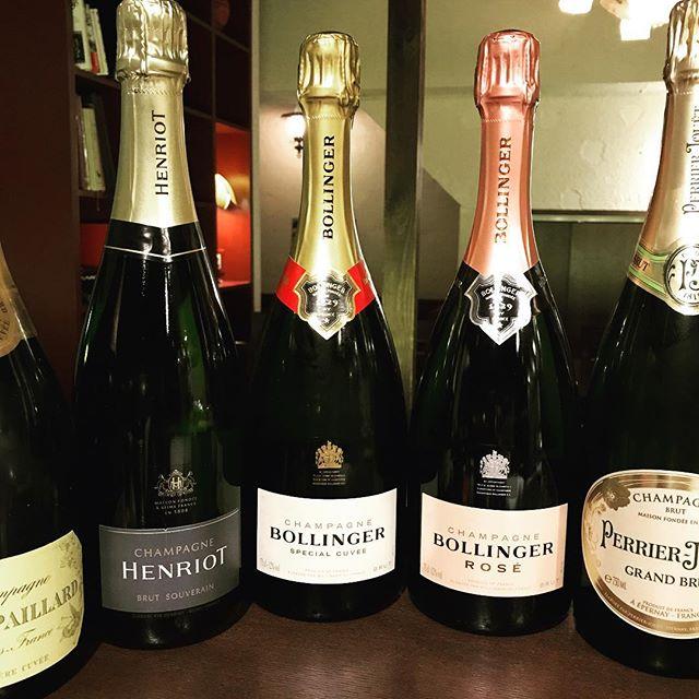 シャンパンフェア継続中です。ブルーノパイヤール¥8000、アンリオ¥7800、ボランジェ¥12000、ボランジェロゼ¥15000、ペリエジュエ¥8800#西麻布#ビストロ#六本木#レストラン#帝國食堂#nishiazabu#roppongi#restaurant #bistro #champagne #シャンパン