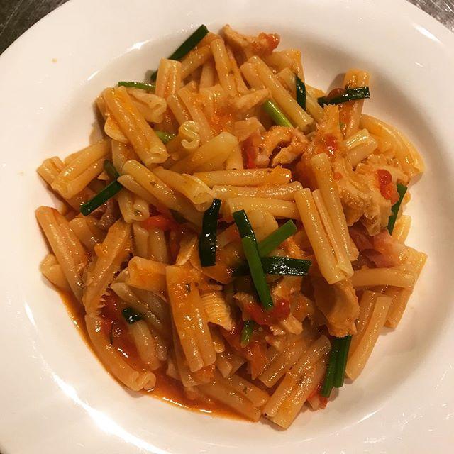 トリッパの煮込みを合わせたカサレッチャ。#nishiazabu#roppongi#restaurant#bistrot#french #pasta#pate##tripe#西麻布#六本木#ビストロ#レストラン#フレンチ#パスタ#トリッパ#煮込み