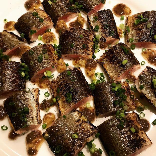 秋刀魚の炙り。肝のソース。#nishiazabu #nogizaka #roppongi #tokyo #bistrot #restaurant #french #cuisine #sanma #poisson #西麻布 #六本木 #乃木坂 #東京 #レストラン #ビストロ #秋刀魚 #さんま #サンマ #肝