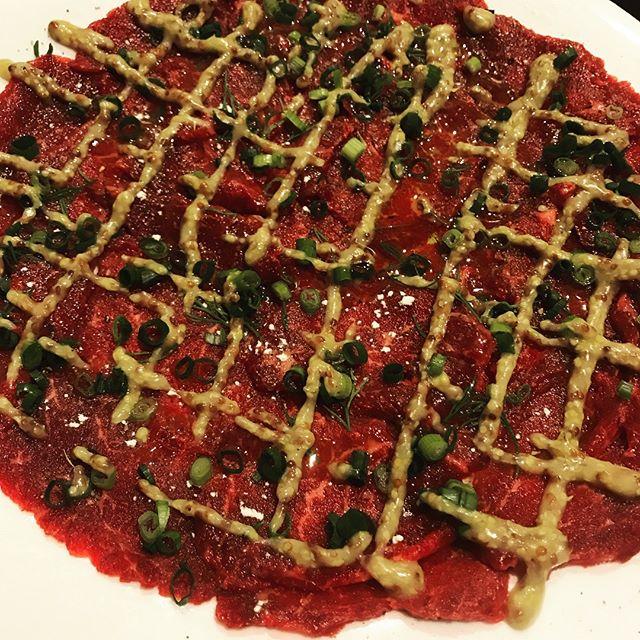 馬肉のカルパッチョ#nogizaka #nishiazabu #roppongi #tokyo #bistro #restaurant #french #cuisine #carpaccio #西麻布 #六本木 #乃木坂 #馬肉 #カルパッチョ #ビストロ #レストラン #フレンチ